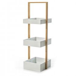 Estanteria bambu moderno 3 baldas 26.00 x 28.00 x 81.00 cm ideal para baño o cocina .