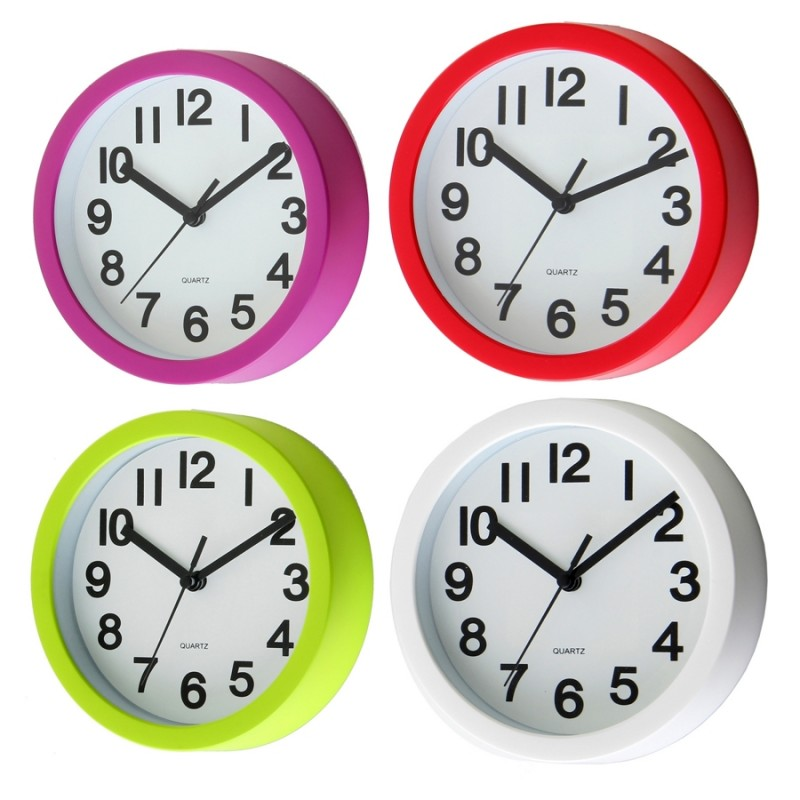 Reloj pared moderno liso pl stico 15cm ideal para cocina - Relojes cocina modernos ...