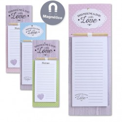 Pack 4 bloc notas iman con lapiz diseño romantico 1 X modelo muy original
