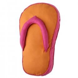 """Cojín original """"sandal"""" naranja con relleno 200 gramos fibra hueca de poliéster. 28 x 45 x 4 cm"""