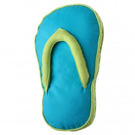 """Cojín original """"sandal"""" azul con relleno 200 gramos fibra hueca de poliéster. 28 x 45 x 4 cmazul"""