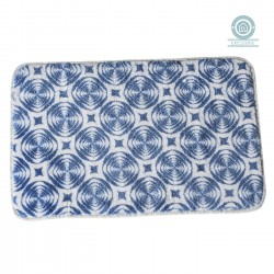 Alfombra baño moderna diseño Bright azul 45x70 cm