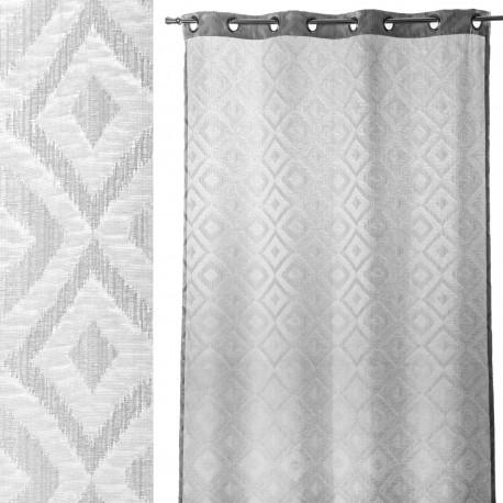 "Cortina moderna anillas ""jaquard"" gris 140 x 260 cm , ideal para salon fantasy"