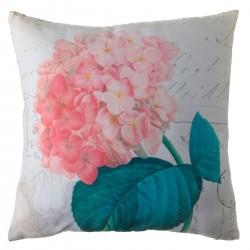 """Cojín romantico cuadrado """"floreal"""" rosa multicolor 45 x 45 cm"""