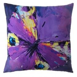 "Cojín moderno ""mariposa"" lila 45 x 45 cm"