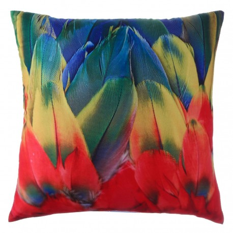 "Cojín cuadrado ""amazonia"" multicolor 40 x 40 cm 100% poliéster"