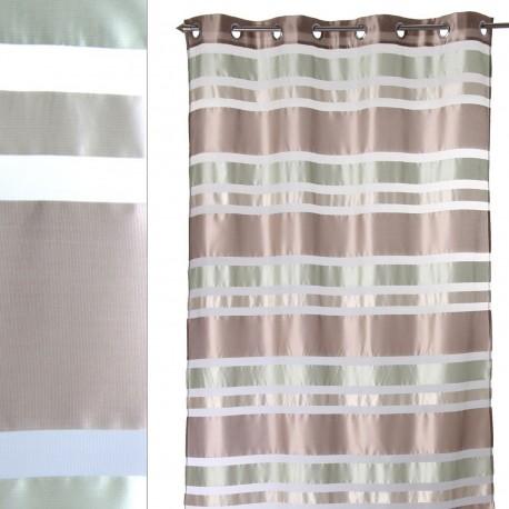 Cortina moderna anillas gris 140 x 260 cm , ideal para salon fantasy