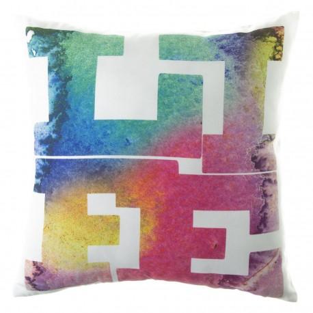 "Cojín moderno ""life"" multicolor 45 x 45 cm ideal para dormitorio Factory"