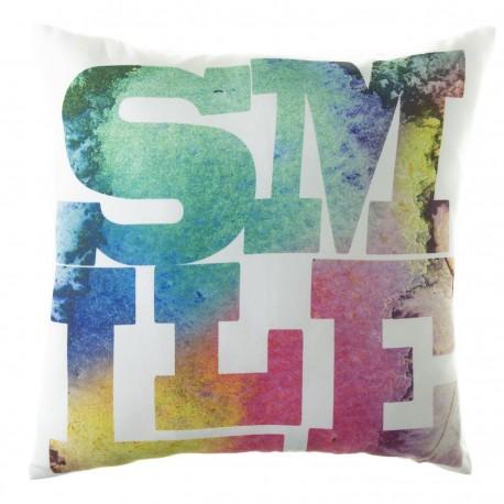 "Cojín moderno ""smile"" multicolor 45 x 45 cm ideal para dormitorio Factory"