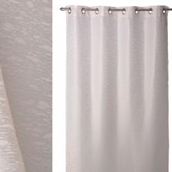 Cortina clasica anillas jaquard beautiful crudo 140 x 260 cm , ideal para salon fantasy