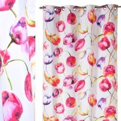 """Cortina romantica anillas """"olalla"""" multicolor 140 x 260 cm"""