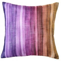 "Cojín moderno ""rainbow"" lila-naranja 43 x 43 cm ideal para dormitorio fantasy"