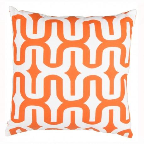 "Cojin moderno ""makula"" naranja 100% algodón 45 x 45 cm para salón Sol Naciente"