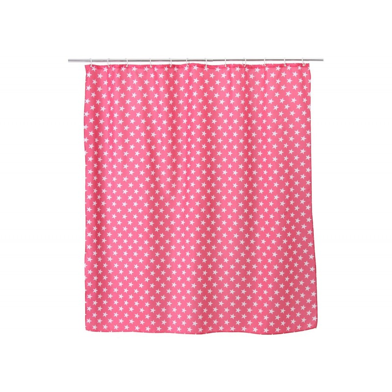 Cortinas De Baño Rosa:Cortina de ducha diseño estrellas de poliéster para cuarto de baño