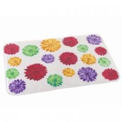 Alfombra de ducha pop multicolor antideslizante para cuarto de baño de 45 x 70 cm France