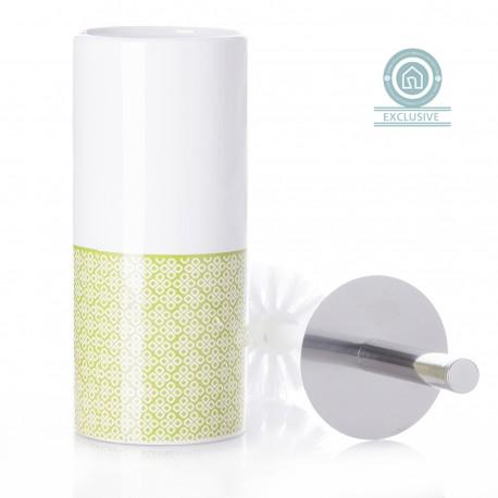 Escobilla de baño pop verde de cerámica para cuarto de baño Bretaña