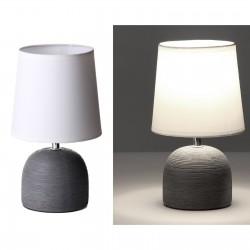 Lámpara de mesa moderna gris cerámica 16 x 16 x 27,50 cm