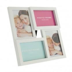 Portafotos plastico multiple blanco 4 Fotos moderno
