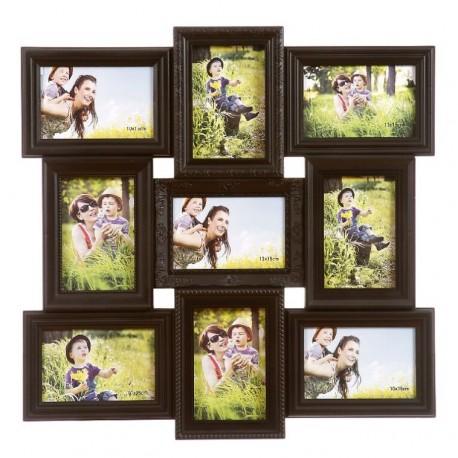 Portafotos plastico multiple negro 9 Fotos moderno