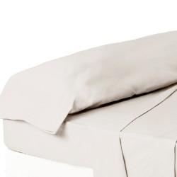 Juego de sábanas de cama 135 clásico crudo de algodón / poliéster Basic