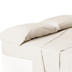 Juego de sábanas de cama 150 clásico crudo de algodón / poliéster Basic