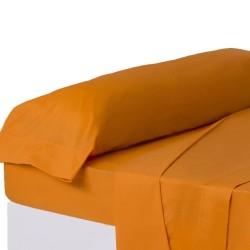 Juego de sábanas de cama 135 clásico naranja de algodón / poliéster Basic