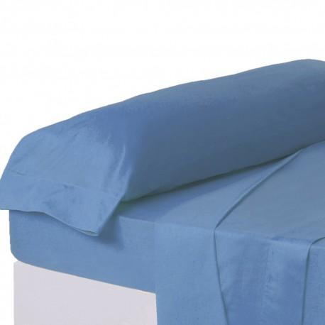 Juego de sábanas de cama 90 clásico azul de algodón / poliéster Basic