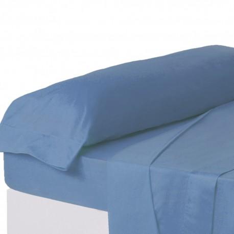 Juego de sábanas de cama 135 clásico azul de algodón / poliéster Basic