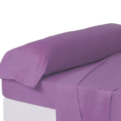 Juego de sábanas de cama 135 clásico lila de algodón / poliéster Basic
