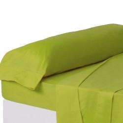 Juego de sábanas de cama 90 clásico verde de algodón / poliéster Basic