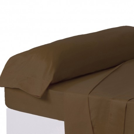 Juego de sábanas de cama 90 clásico marron de algodón / poliéster Basic