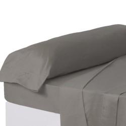 Juego de sábanas de cama 90 clásico gris de algodón / poliéster Basic