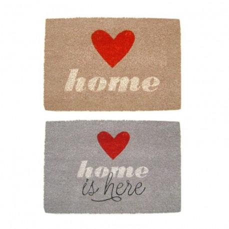 Felpudo original de fibra de coco y base de goma diseño romantica love HOME