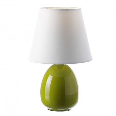 Lámpara para mesita de noche moderna verde de cerámica para dormitorio