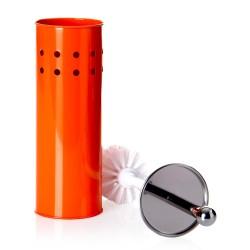 Escobillero naranja metal calidad 10 x 10 x 39 cm .
