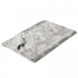 Plaid para pie de cama romántico gris de poliéster 170 x 130 cm