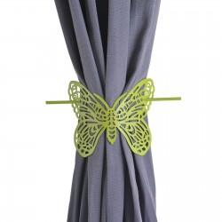 Alzapaños metal diseño mariposa color verde 13.50x10x10.50 cm