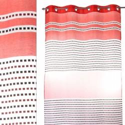 "Cortina anillas para salon ""zurich"" rojo 140 x 260 cm con 8 anillas metálicas. 100% poliéster."