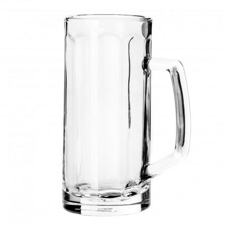 Jarra cerveza cristal 7,90 x 7,90 x 17 cm capacidad: 400 cc.