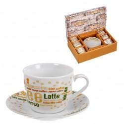 Juego cafe 6 tazas 160ml con caja de regalo COFFELATE