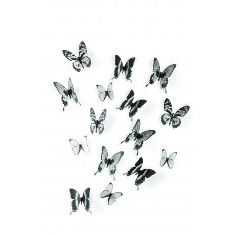 Decoración de pared Chrysalis Negro/Transparente