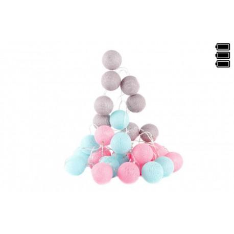 Bolas colores summer de algod 243 n 30 luz led 6x450 cm muy romantico por