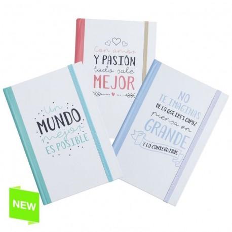 Libreta moleskin original frases positiva 3m - Pack 3 ud.
