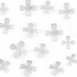 Juego de flores magnéticas (25 piezas), color blanco