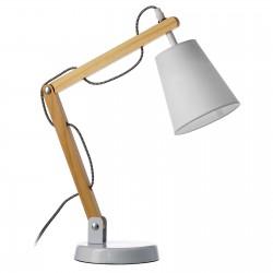 Lámpara sobremesa moderno de madera / metal 29x16x45 cm