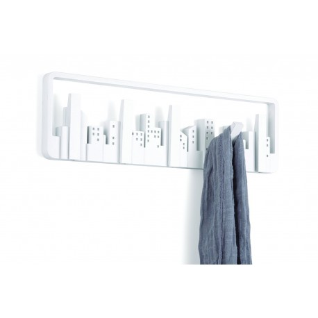 Perchero decorativo de pared Sticks Blanco