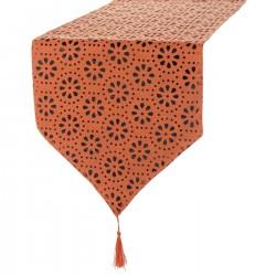 Camino mesa naranja ''varanasi'' 135 x 35 cm