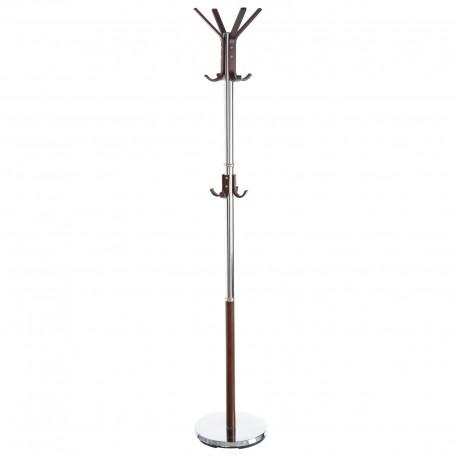 Perchero de 12 brazos moderno marrón de metal para la entrada de 170 cm
