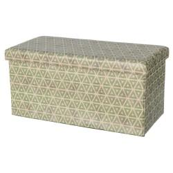 Puff plegable moderno verde de madera para salón o dormitorio 74 x 36 x 36 cm