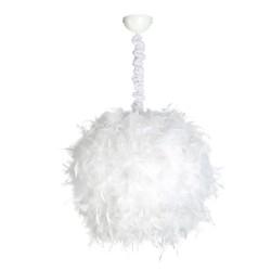 Lámpara techo plumas blanco metal 50 x 40 x 120 cm